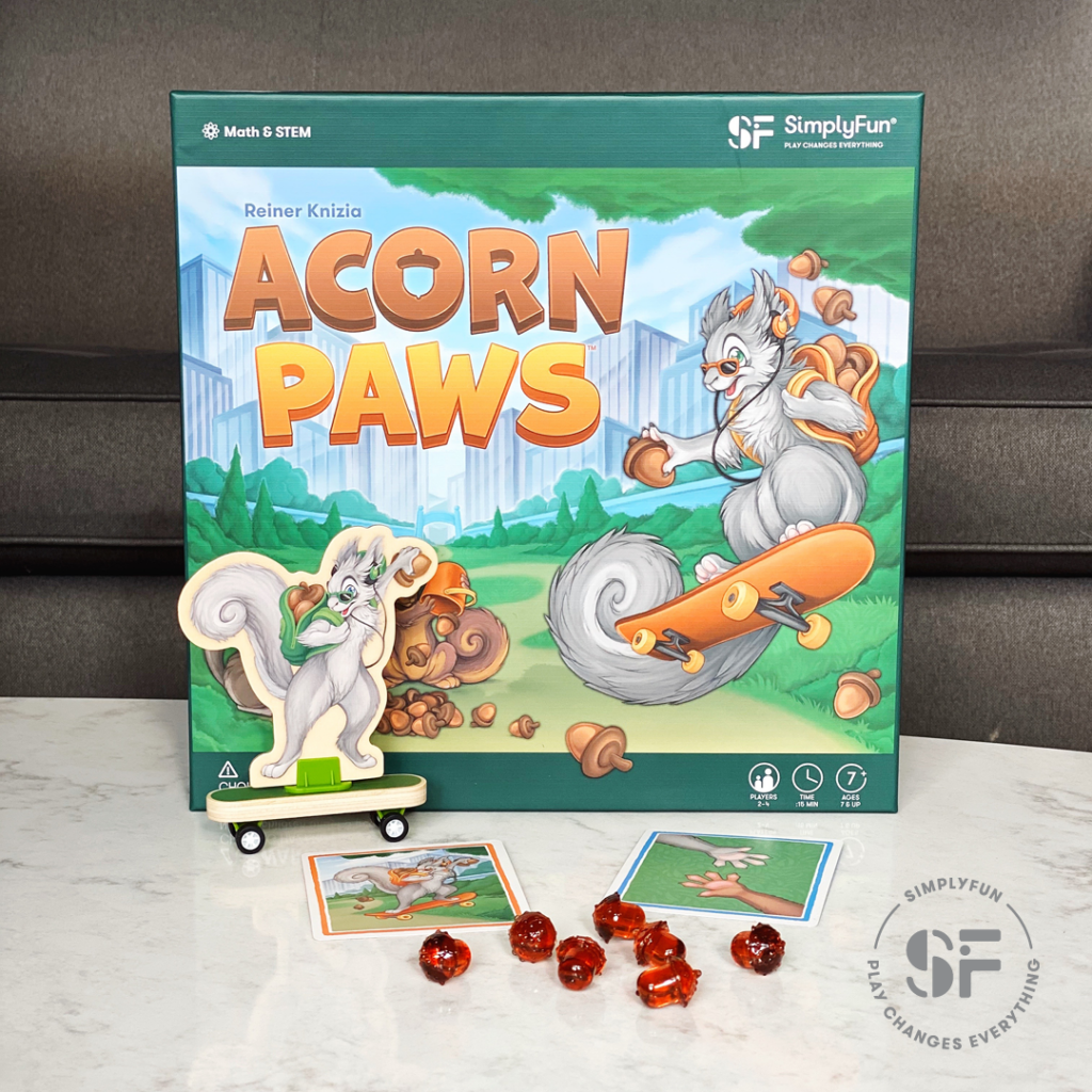 SimplyFun Blog - Meet Our Newest Math Games - Acorn Paws